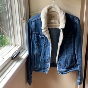 Paige Jean Jacket with Shearling lining